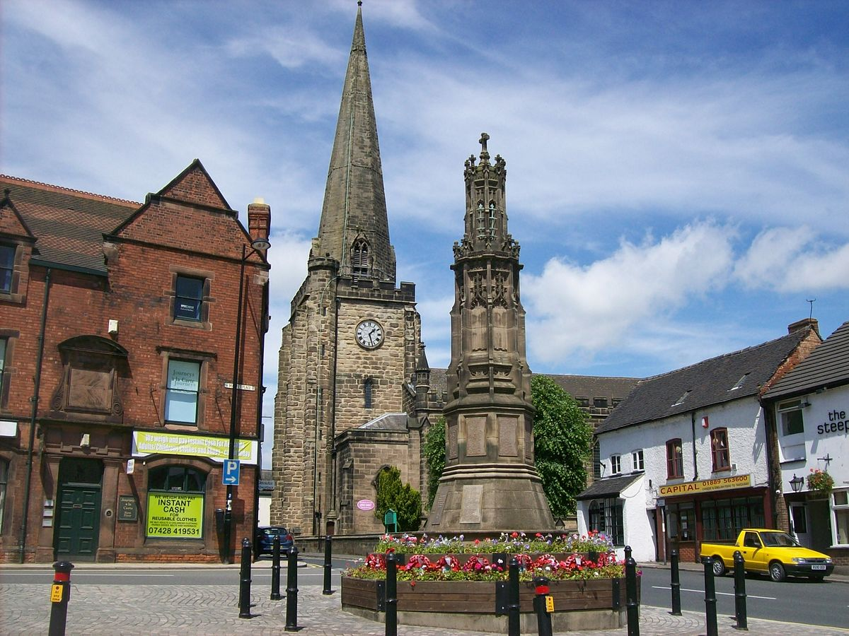 Image of Uttoxeter Market Place.